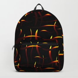 Bright golden stems with red highlights on a black background. Backpack