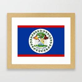 Fancy Flag: Belize Framed Art Print