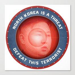 North Korea Is A Threat Canvas Print