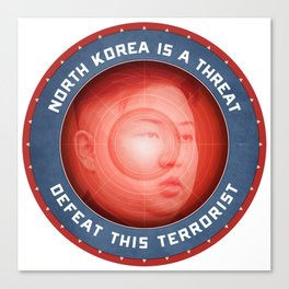 North Korea Is A Threat Canvas Print