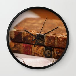 Antique Books Wall Clock