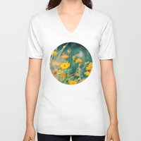 aperture V-neck T-shirts featuring Orange Cosmos by Laura Ruth