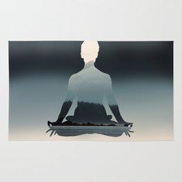 Nature Meditation Photography Print Rug