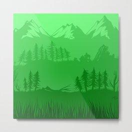 Shades of Nature - Green Metal Print