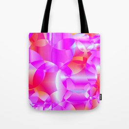 Abstract soap of cosmic transparent purple circles and pink bubbles on a languid background. Tote Bag