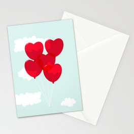 Love Balloons  Stationery Cards