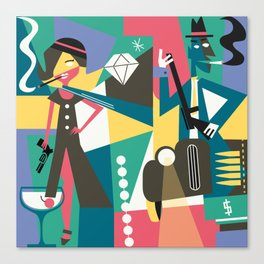 Gangster Couple Canvas Print