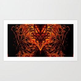 Devilish Shroud Art Print