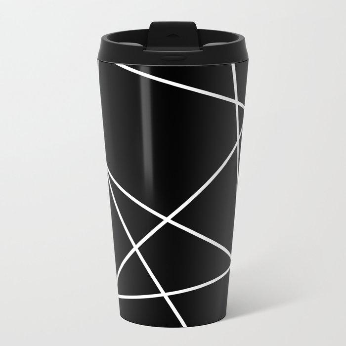 Lines in Chaos I - Black Metal Travel Mug