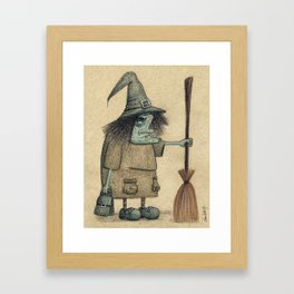 Witch / Bruja Framed Art Print