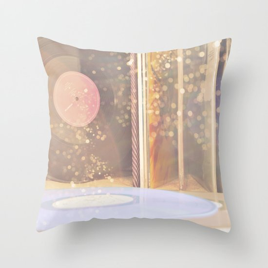 Vinyl Throw Pillows : The Sound of Vinyl Throw Pillow by Viviana Gonzalez Society6