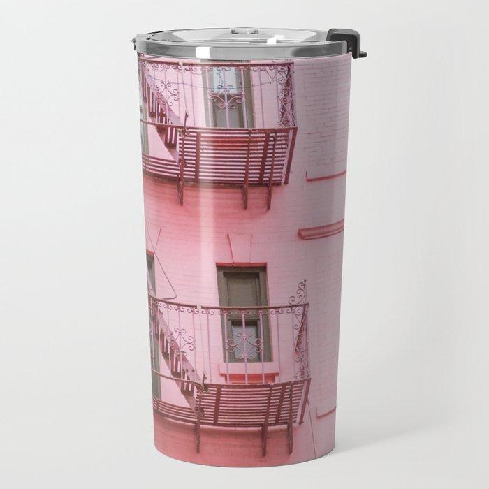 Pink Soho NYC Travel Mug