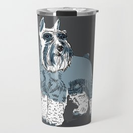 Schnauzer salt and pepper Travel Mug
