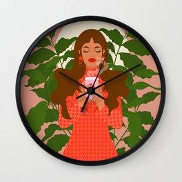 Prayers to Coffee Wall Clock