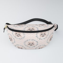 Raccoon and floral wreath Fanny Pack