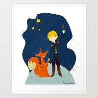 le petit prince Art Prints featuring Le petit prince by LaFilleCoquette