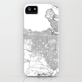 Vancouver White Map iPhone Case