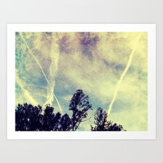 Jet Lines Art Print