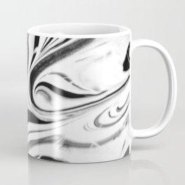 Black and white swirl - Abstract, black and white swirly, paint mix texture Coffee Mug