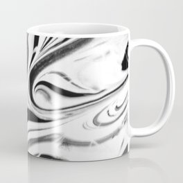 Black and white swirl - Abstract, black and white swirly, paint mix texture Coffee Mug