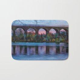 Viaduct at Reddish Vale Country Park Bath Mat