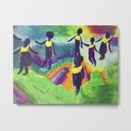 Ghana Dancers Metal Print
