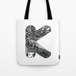 Letter K Tote Bag