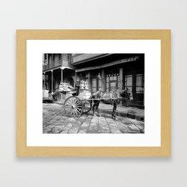 New Orleans milk cart Framed Art Print