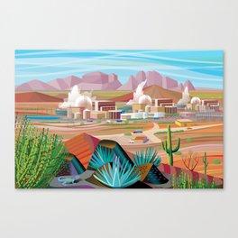 Power Generating Station in Desert Canvas Print
