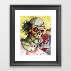 zombie patient Framed Art Print