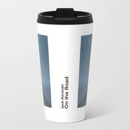 "Jack Kerouac ""On the Road"" - Minimalist literary art design, bookish gift Travel Mug"