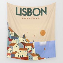 Lisbon Portugal Wall Tapestry