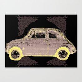 old car / retro / black/ grey / white / texture  Canvas Print