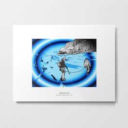 MOUNTAIN GLACIER TOUR III Metal Print