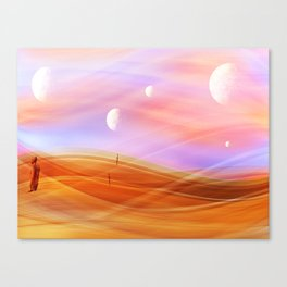 5 moons Canvas Print