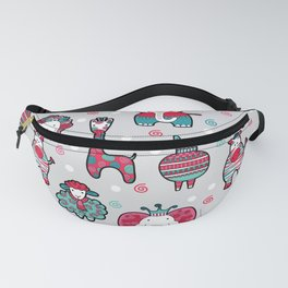 Doodle Animal Friends Pink & Grey Fanny Pack