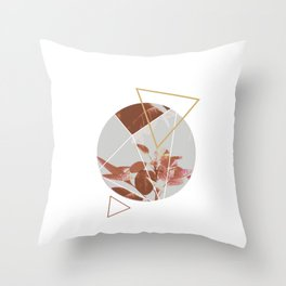 Pastels Geometric Abstract Throw Pillow