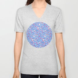 Berry field pattern Unisex V-Neck