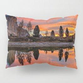 Mountain Lakeside Sunset Pillow Sham