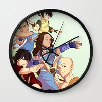 avatar the last airbender Wall Clocks featuring avatar: the last airbender by Anyeka