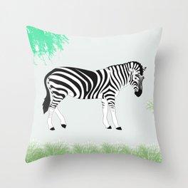 Zebra 01 Throw Pillow
