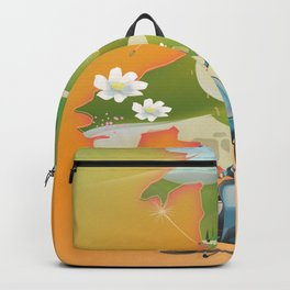 Wales travel poster Backpack