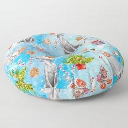 COOKIES FOR SANTA Floor Pillow