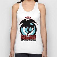 hiccup Tank Tops featuring Black Sheep tournament by Une Belle Pagaille
