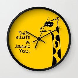 Judging Giraffe Wall Clock