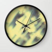 bokeh Wall Clocks featuring Bokeh. by Sobriquet Studio