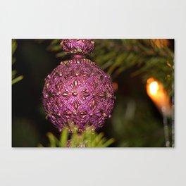 Christmas Photo, Purple Christmas Tree Ornaments, Christmas card print, printable art, fine Canvas Print