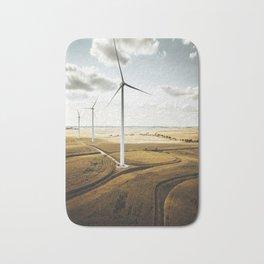 windturbine in nebraska Bath Mat