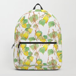 Autumn birch tree branch watercolour Backpack