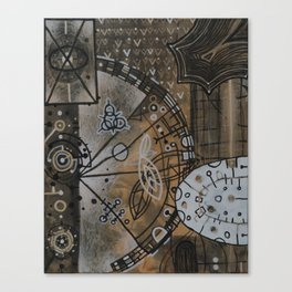 Gearbox in Rust and White Canvas Print
